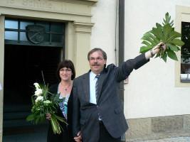 Bürgermeister mit Gattin