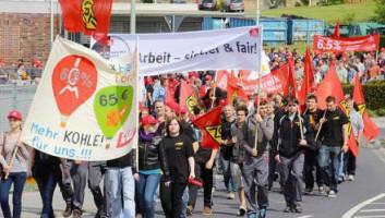 Warnstreik FTE Demozug