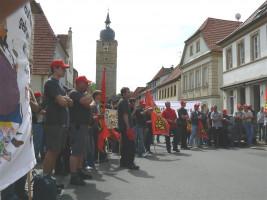 Warnstreik FTE Demo Marktplatz