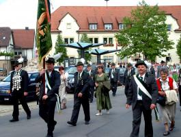 Die Schützen des Nachbarvereins Oberschleichach